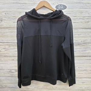 Torrid Black Hooded Athletic Sweatshirt